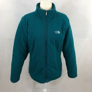 The North Face Teal Fleece Insulated Jacket Size L